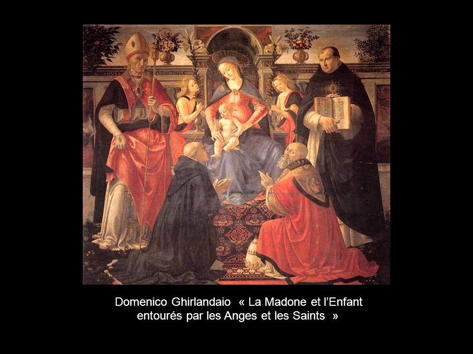 Domenico Ghirlandaio « La Madone et l'Enfant