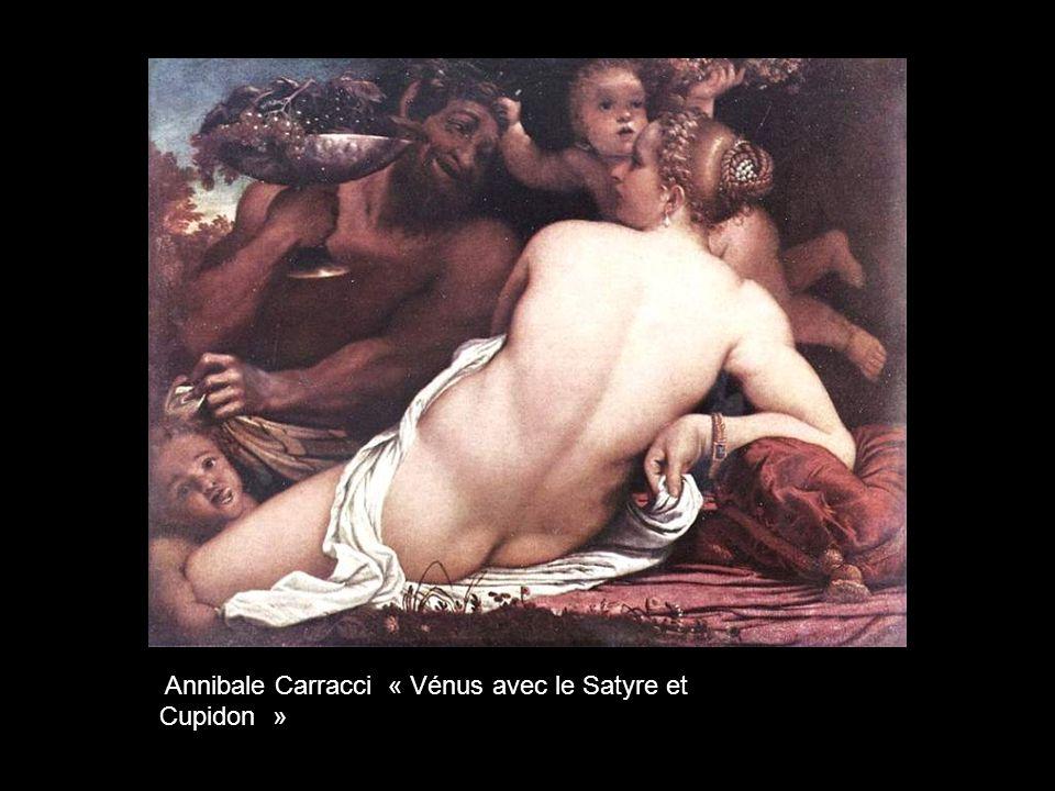 Annibale Carracci « Vénus avec le Satyre et Cupidon »