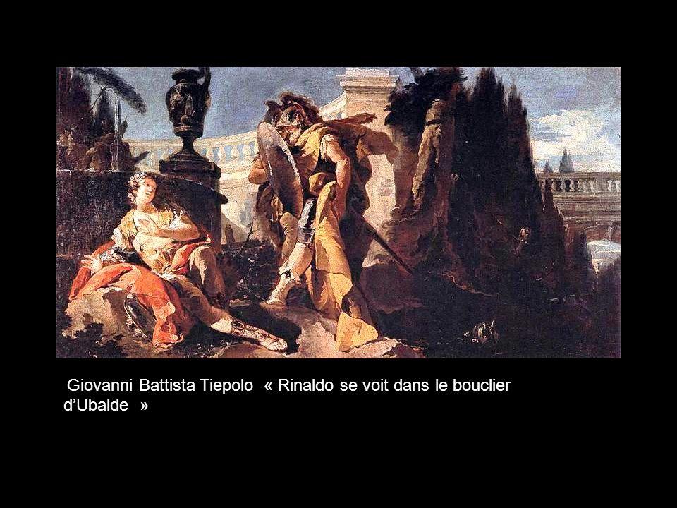 Giovanni Battista Tiepolo « Rinaldo se voit dans le bouclier d'Ubalde »