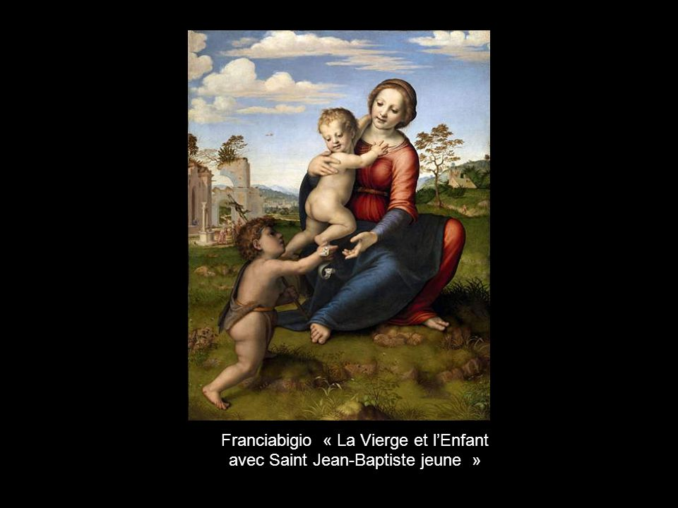 Franciabigio « La Vierge et l'Enfant avec Saint Jean-Baptiste jeune »
