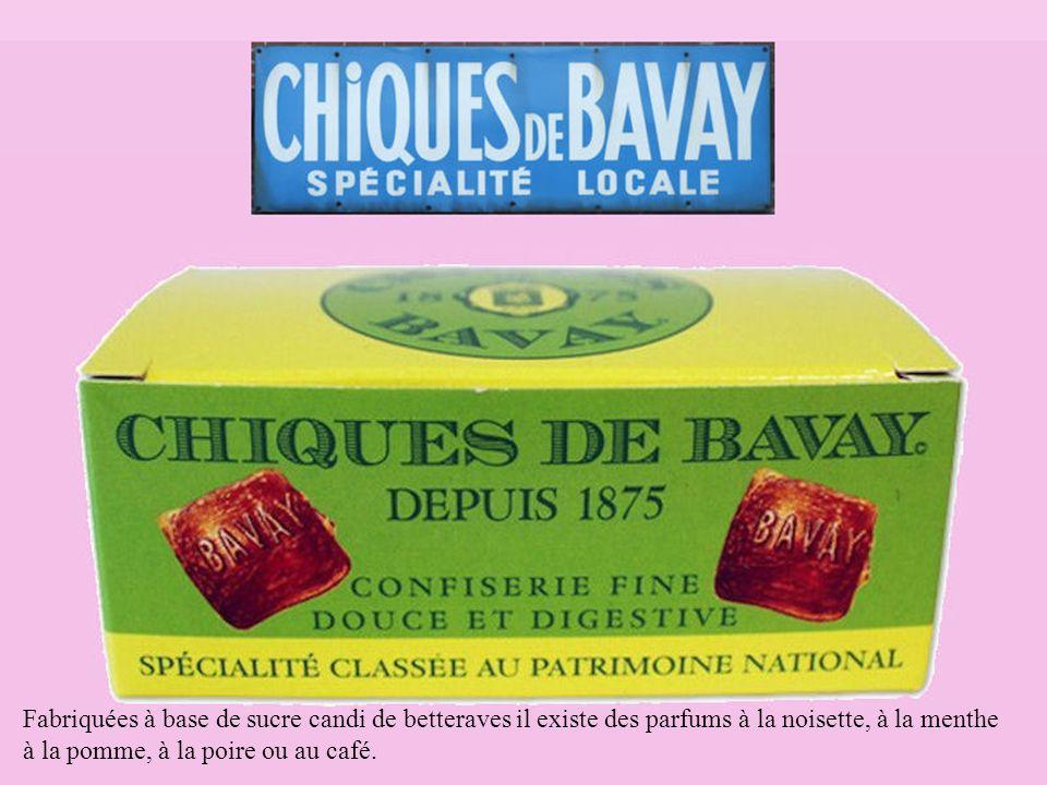 Fabriquées à base de sucre candi de betteraves il existe des parfums à la noisette, à la menthe