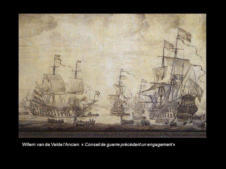 Willem van de Velde l'Ancien « Conseil de guerre précédant un engagement »