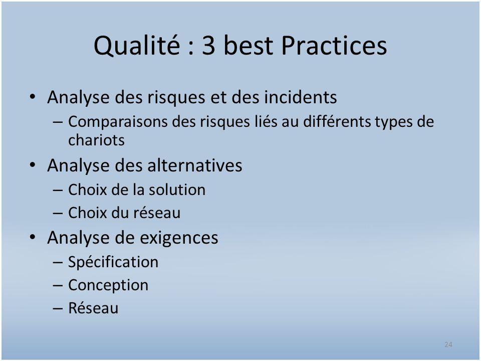 Qualité : 3 best Practices