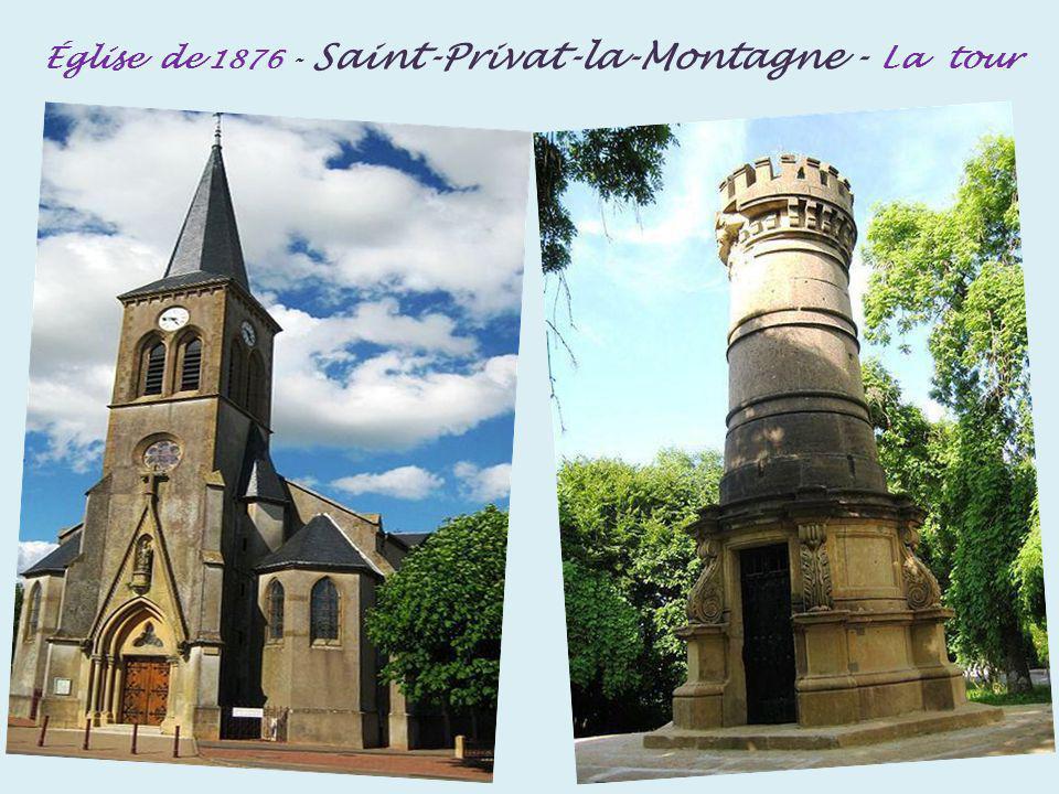 Église de 1876 - Saint-Privat-la-Montagne - La tour