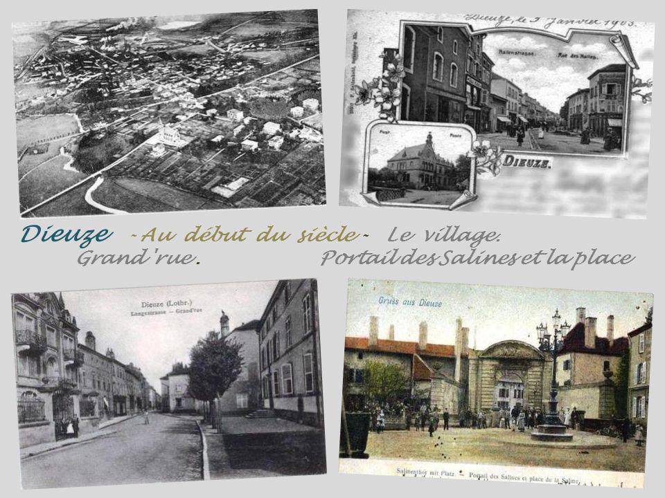 Dieuze - Au début du siècle - Le village. Grand rue