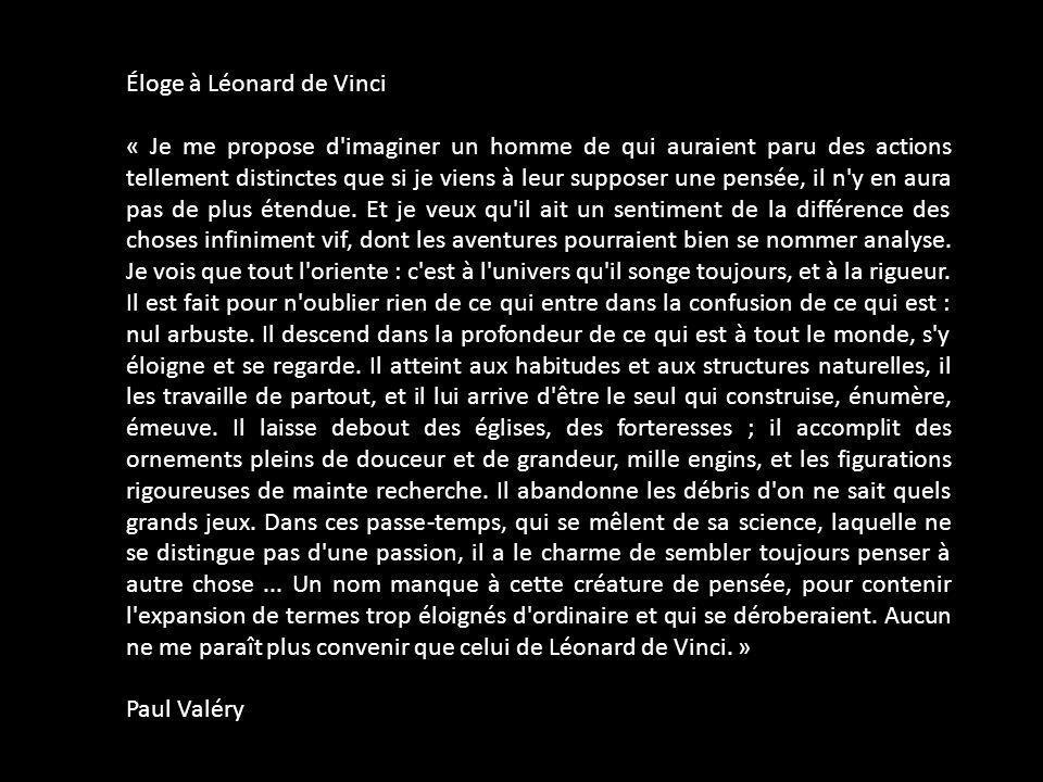 Éloge à Léonard de Vinci