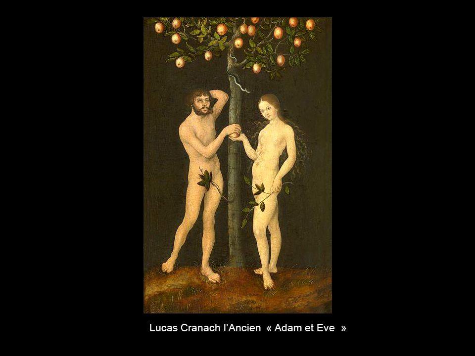 Lucas Cranach l'Ancien « Adam et Eve »