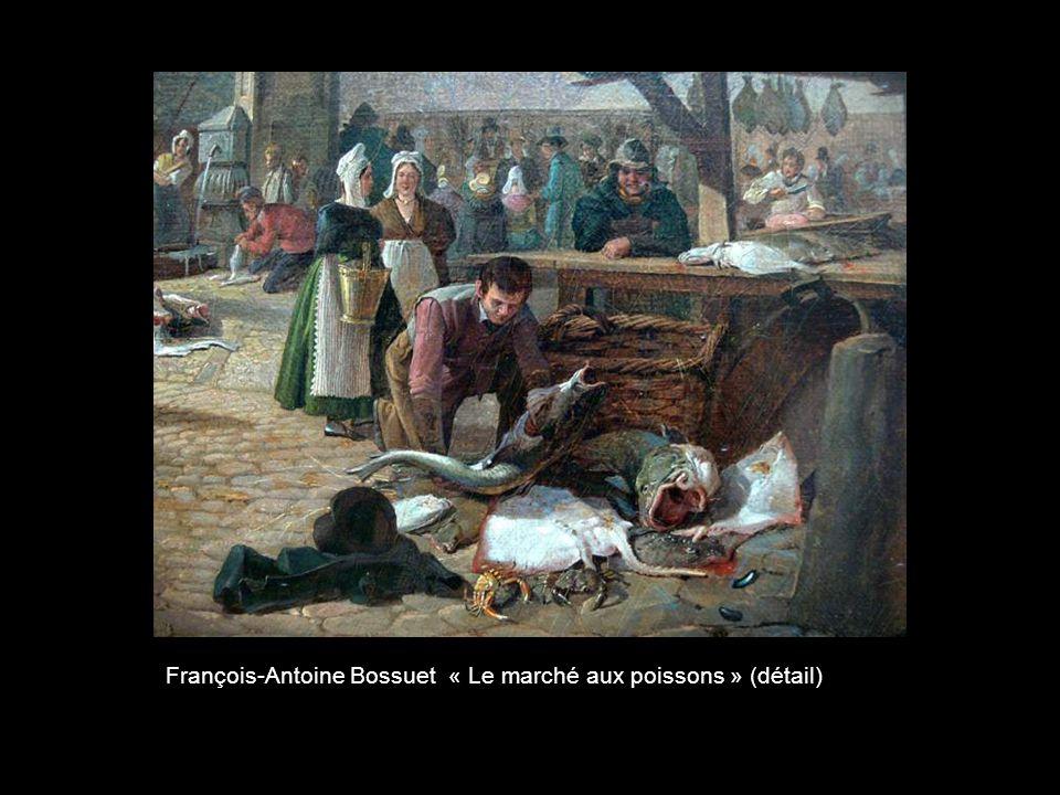 François-Antoine Bossuet « Le marché aux poissons » (détail)
