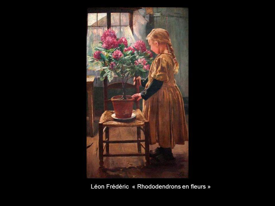 Léon Frédéric « Rhododendrons en fleurs »