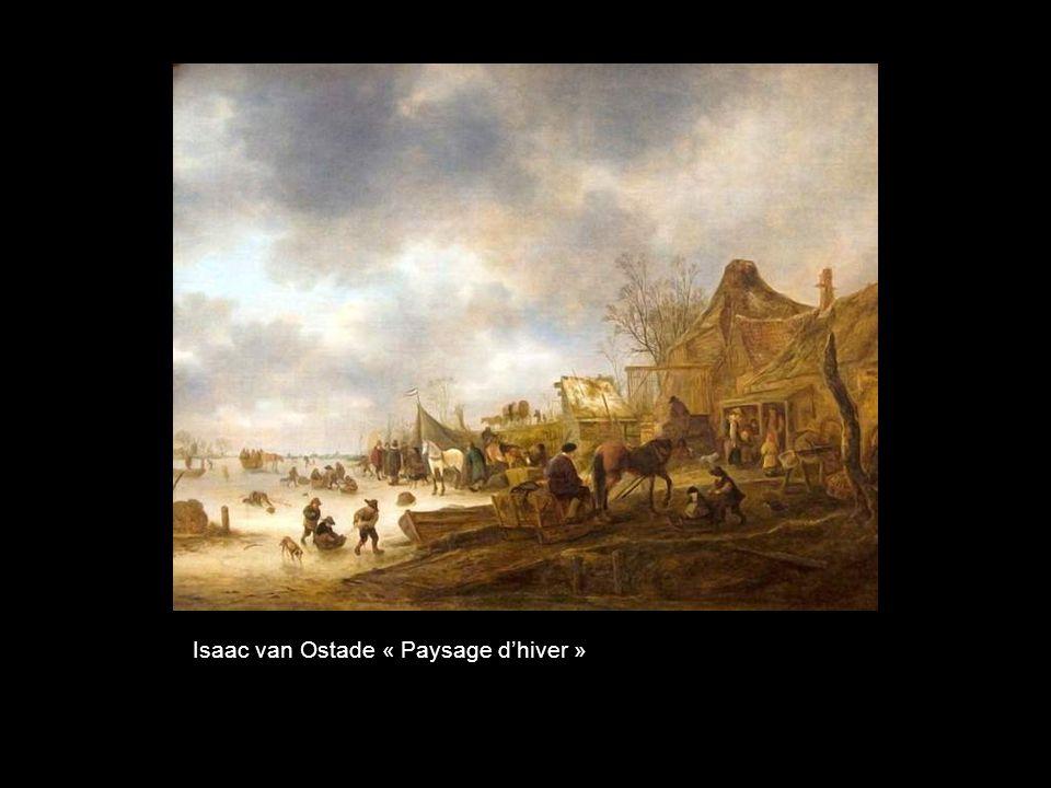 Isaac van Ostade « Paysage d'hiver »