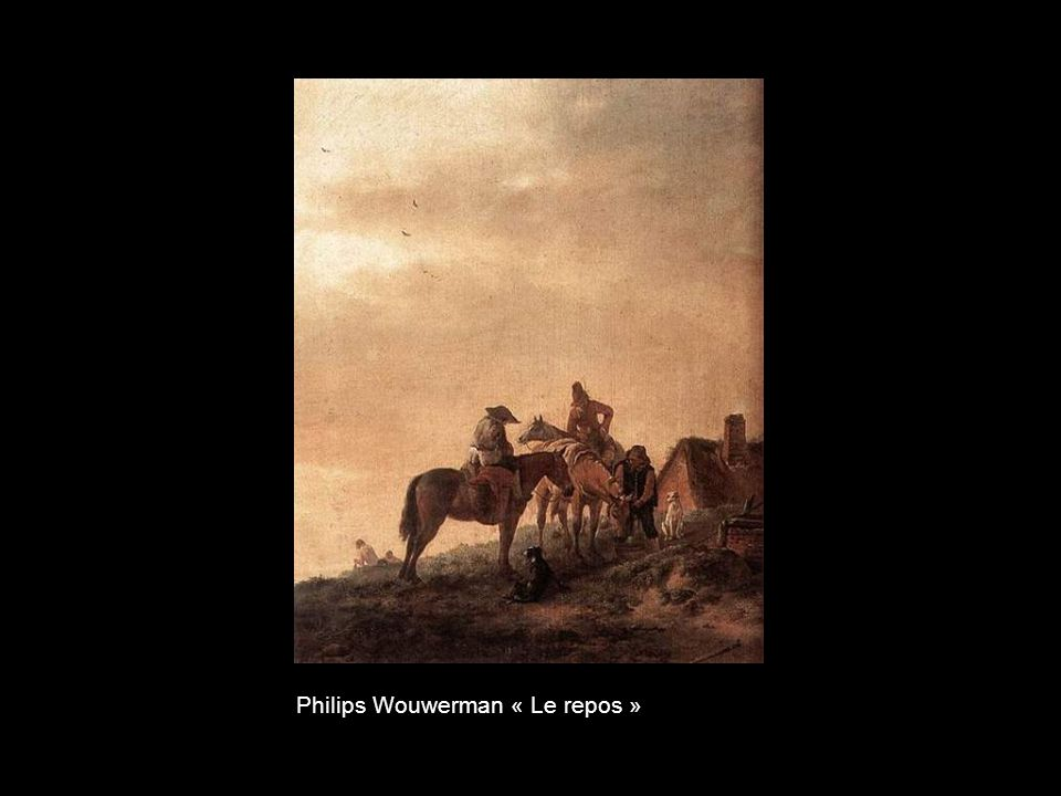 Philips Wouwerman « Le repos »