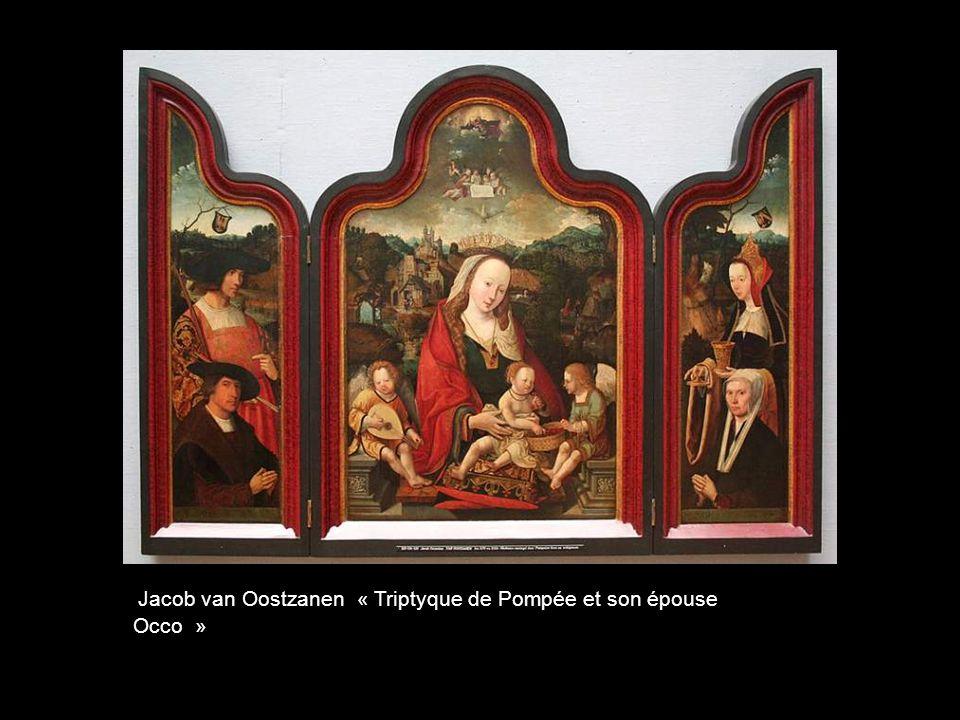 Jacob van Oostzanen « Triptyque de Pompée et son épouse Occo »