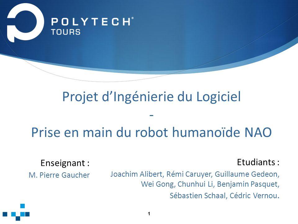 Projet d'Ingénierie du Logiciel - Prise en main du robot humanoïde NAO