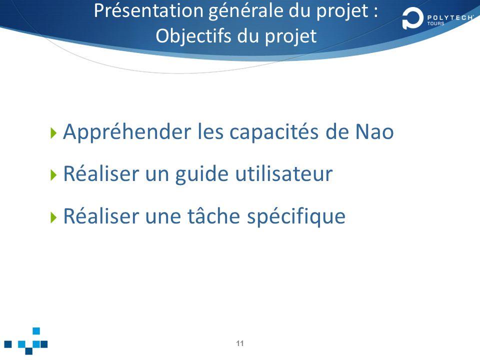 Présentation générale du projet : Objectifs du projet