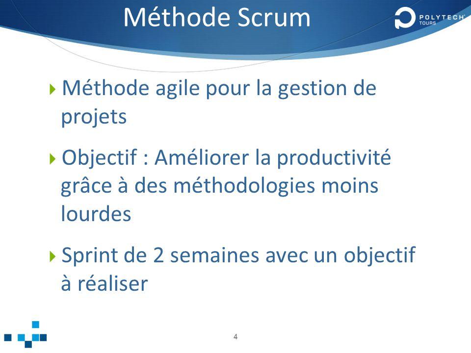 Méthode Scrum Méthode agile pour la gestion de projets