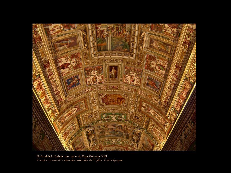 Plafond de la Galerie des cartes du Pape Grégoire XIII.