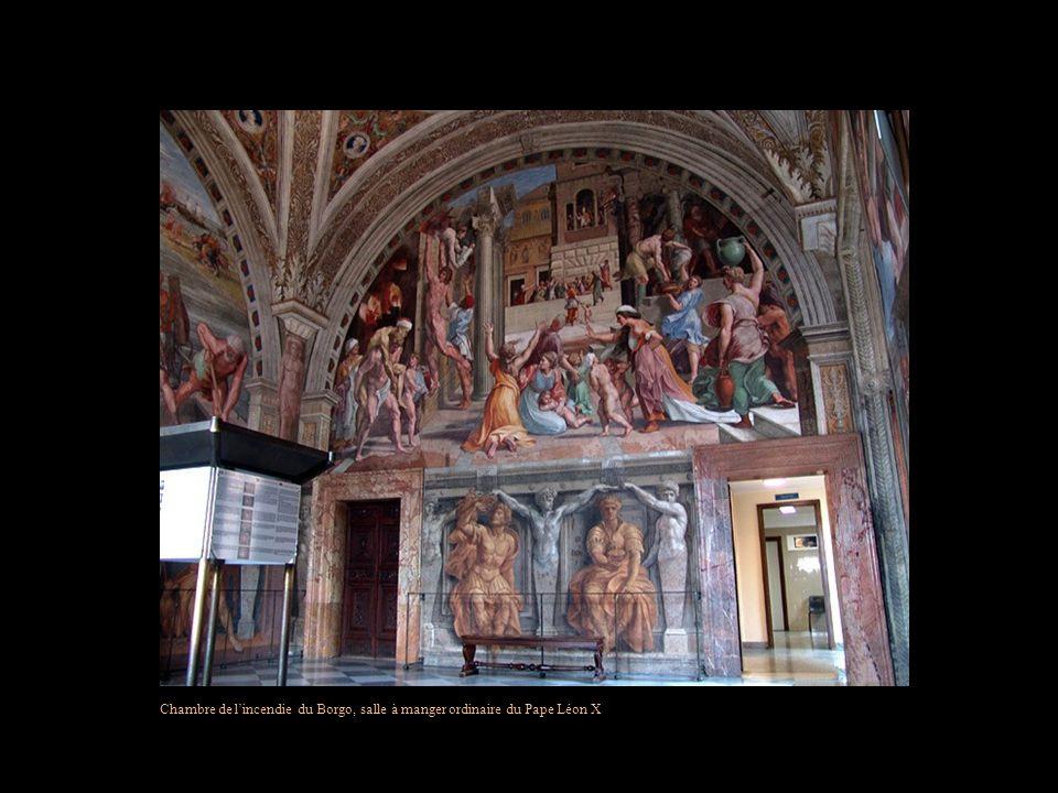 Chambre de l'incendie du Borgo, salle à manger ordinaire du Pape Léon X