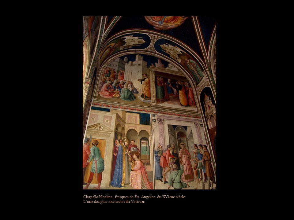 Chapelle Nicoline, fresques de Fra Angelico du XVème siècle
