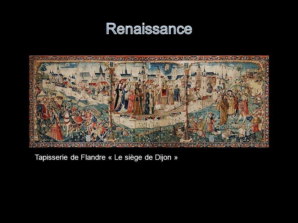 Renaissance Tapisserie de Flandre « Le siège de Dijon »