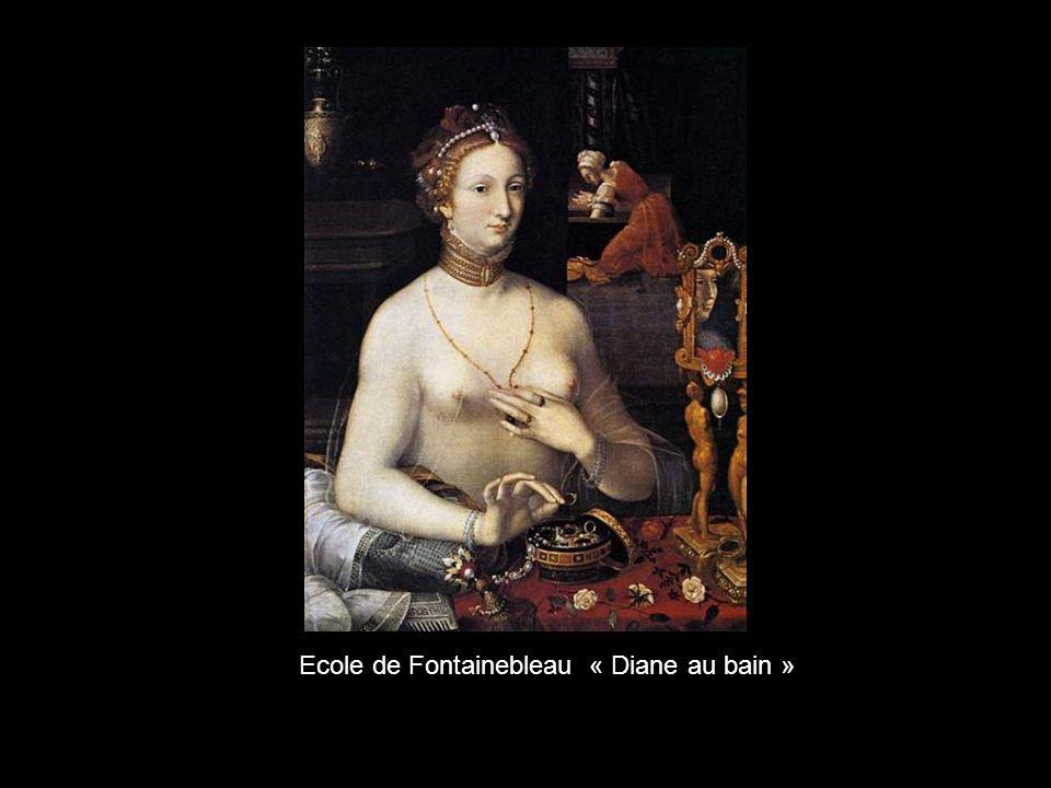 Ecole de Fontainebleau « Diane au bain »