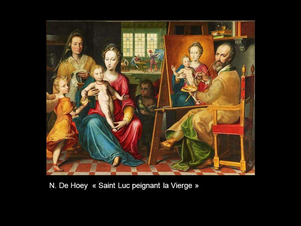 N. De Hoey « Saint Luc peignant la Vierge »