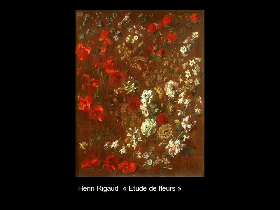 Henri Rigaud « Etude de fleurs »