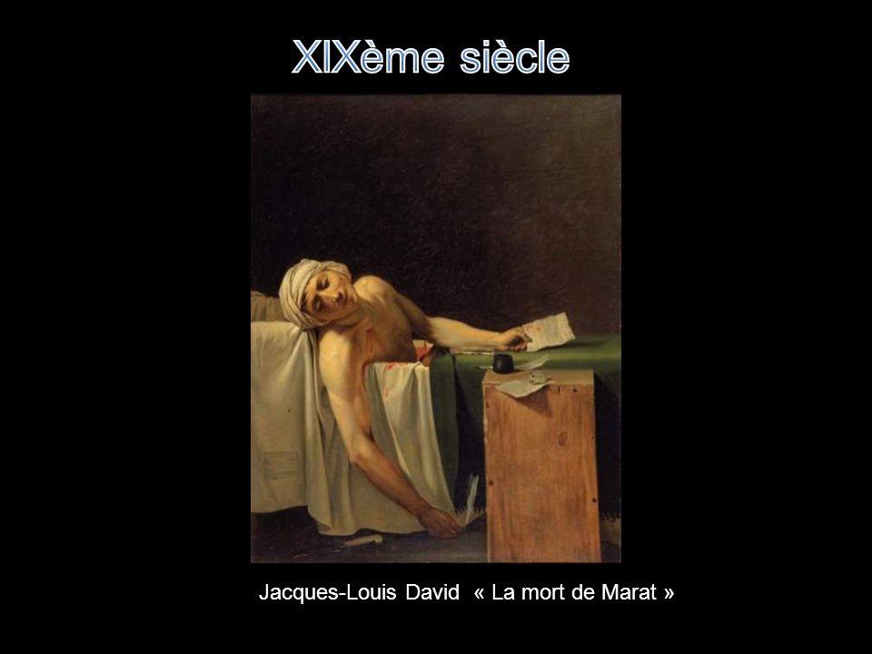 XIXème siècle Jacques-Louis David « La mort de Marat »