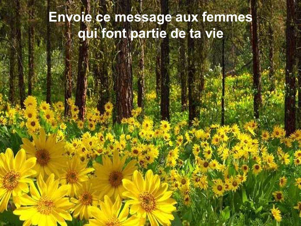 Envoie ce message aux femmes qui font partie de ta vie