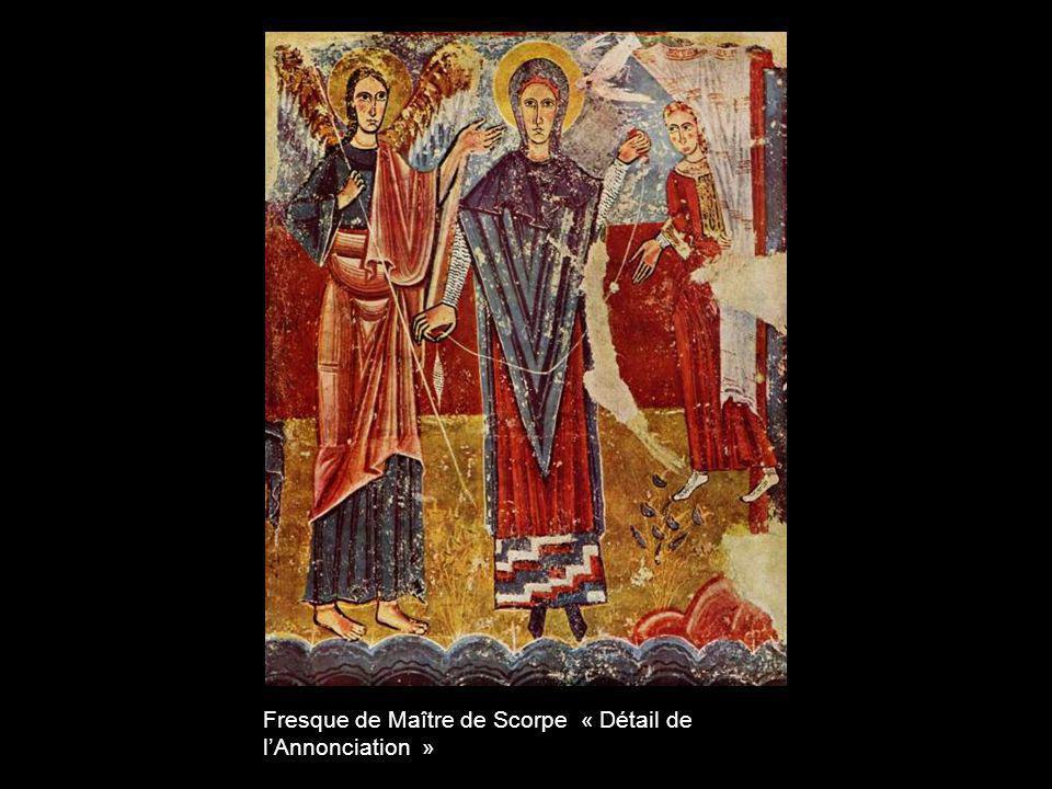 Fresque de Maître de Scorpe « Détail de l'Annonciation »