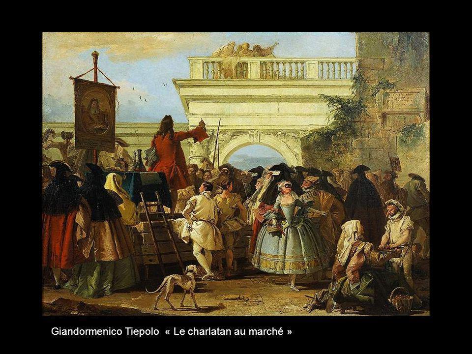 Giandormenico Tiepolo « Le charlatan au marché »