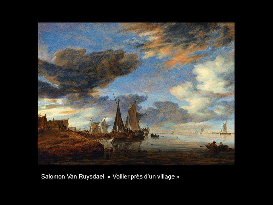Salomon Van Ruysdael « Voilier près d'un village »
