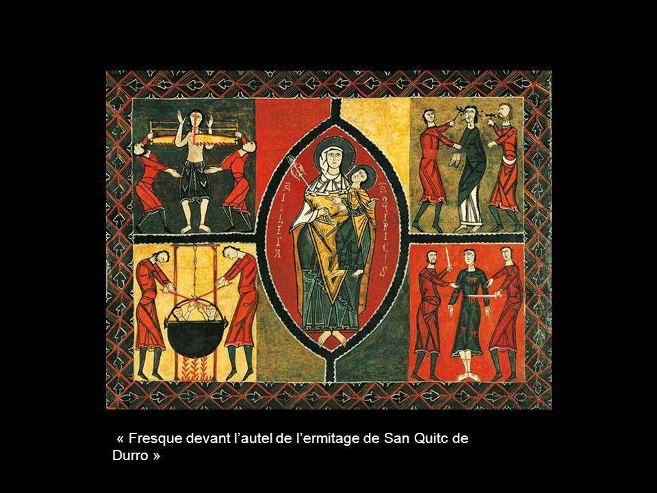 « Fresque devant l'autel de l'ermitage de San Quitc de Durro »