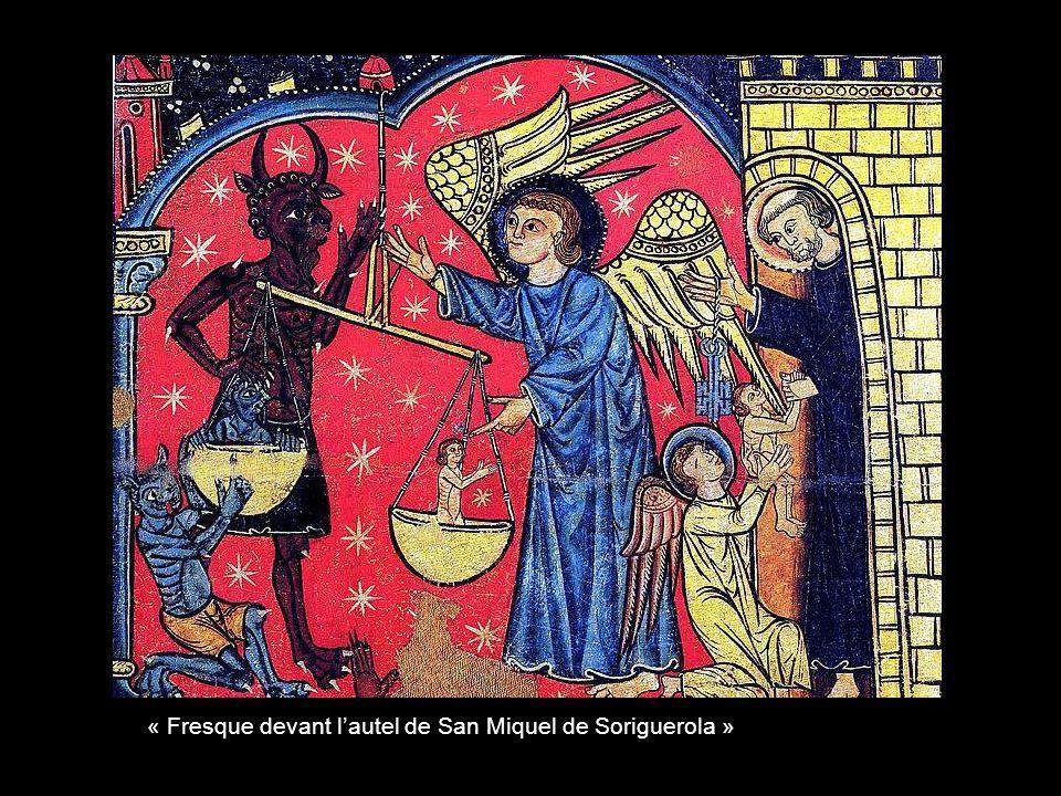 « Fresque devant l'autel de San Miquel de Soriguerola »