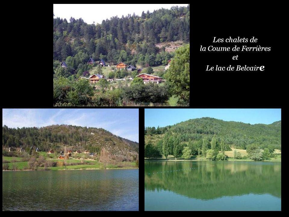 Les chalets de la Coume de Ferrières et Le lac de Belcaire