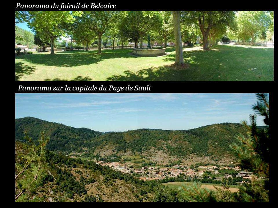 Panorama du foirail de Belcaire