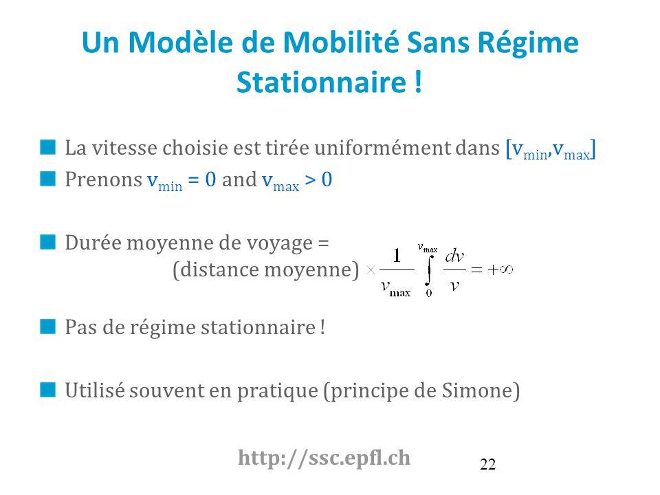 Un Modèle de Mobilité Sans Régime Stationnaire !