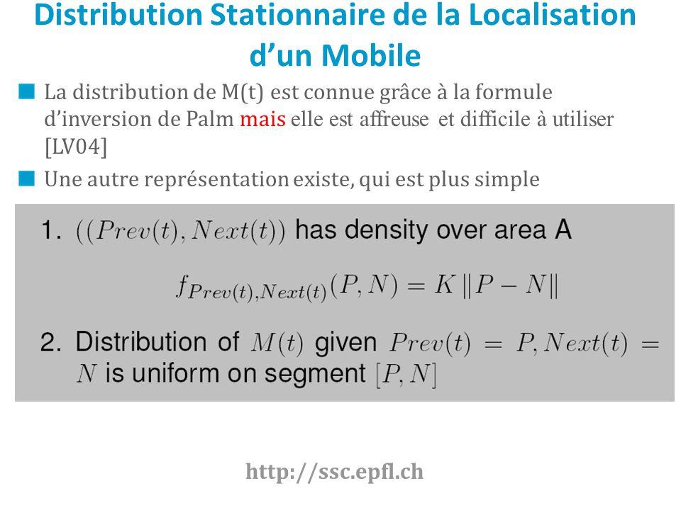 Distribution Stationnaire de la Localisation d'un Mobile