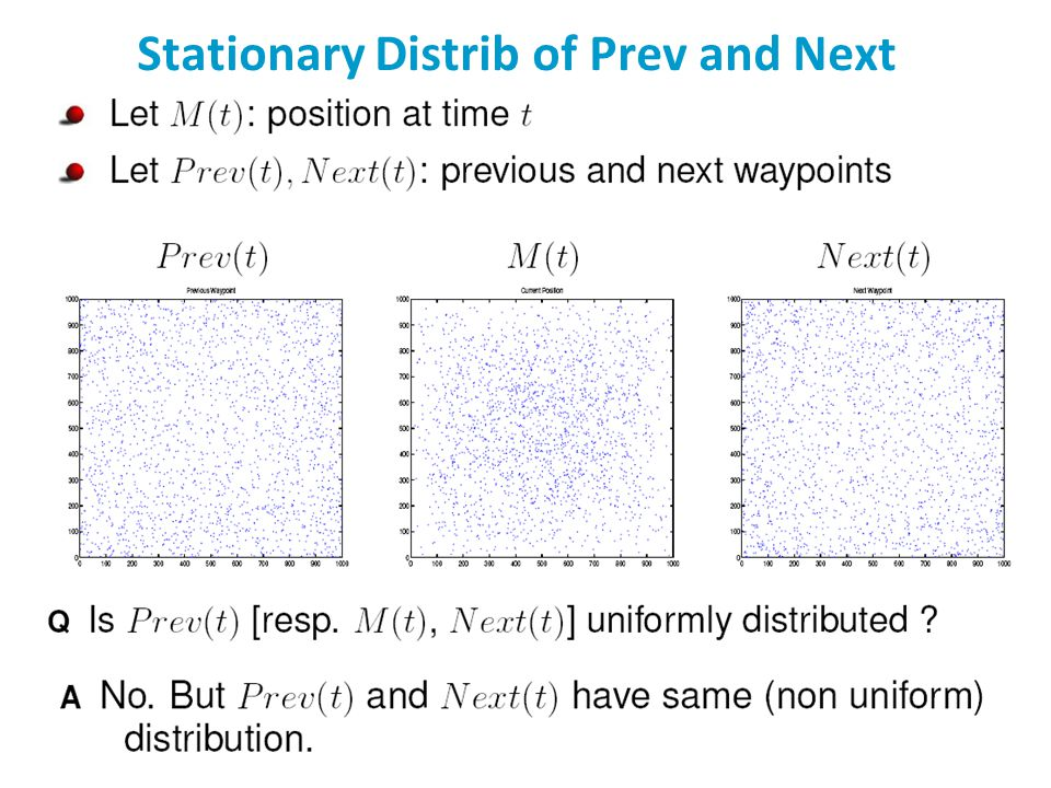 Stationary Distrib of Prev and Next