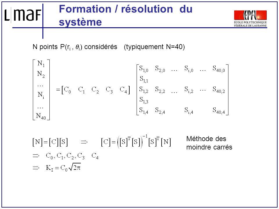 Formation / résolution du système
