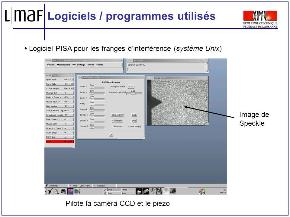 Logiciels / programmes utilisés