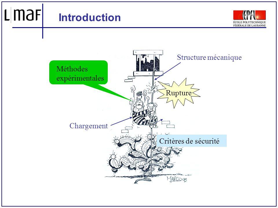 Introduction Structure mécanique Méthodes expérimentales Rupture