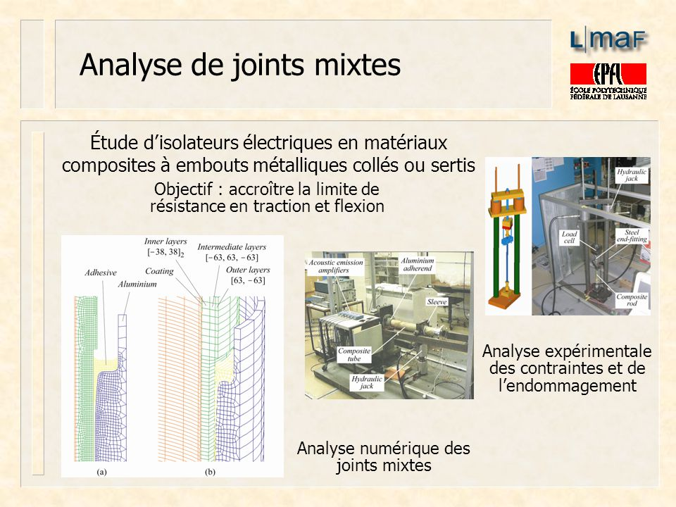 Analyse de joints mixtes