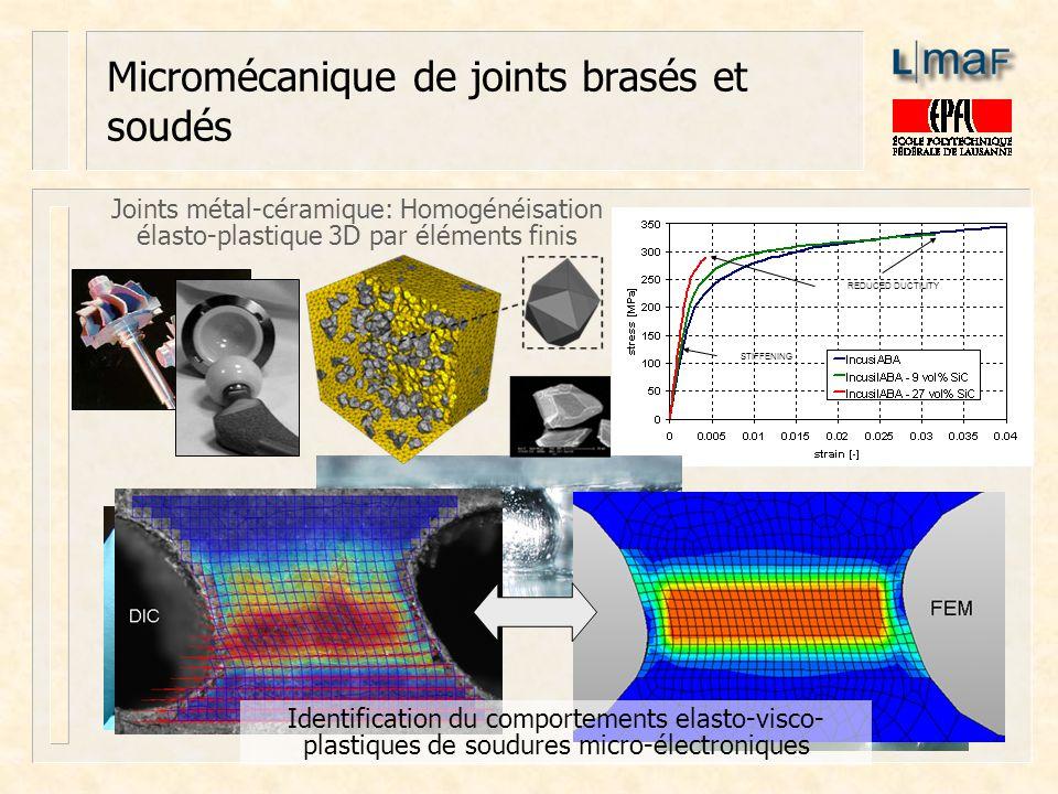 Micromécanique de joints brasés et soudés
