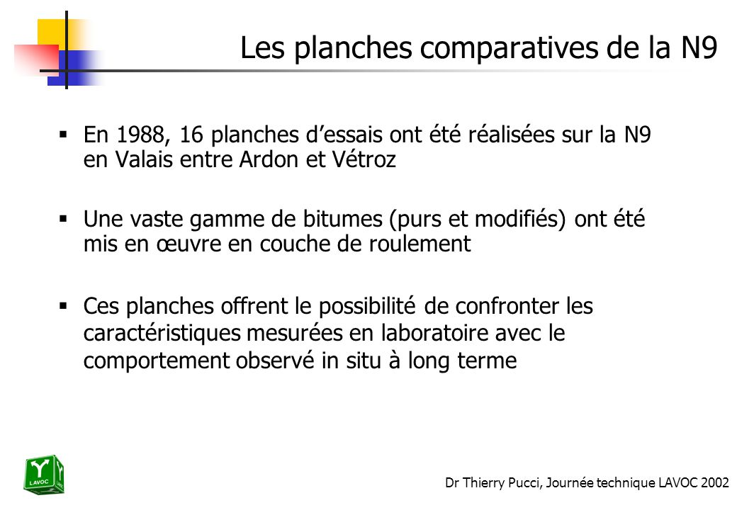 Les planches comparatives de la N9