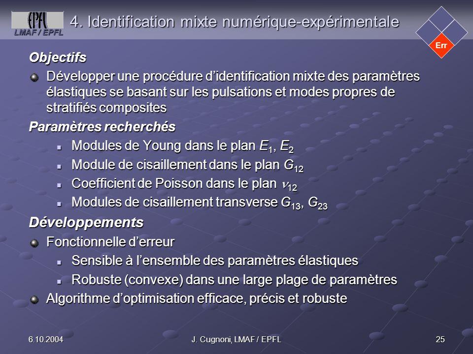 4. Identification mixte numérique-expérimentale