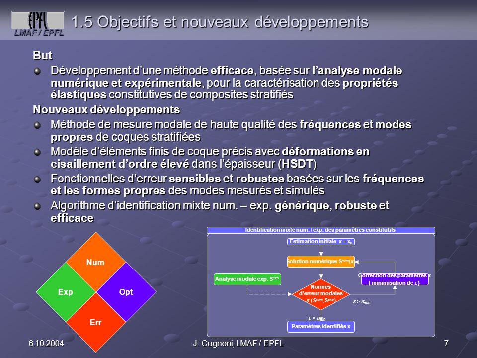 1.5 Objectifs et nouveaux développements