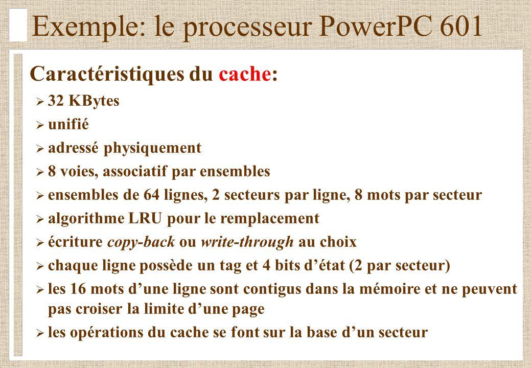 Exemple: le processeur PowerPC 601