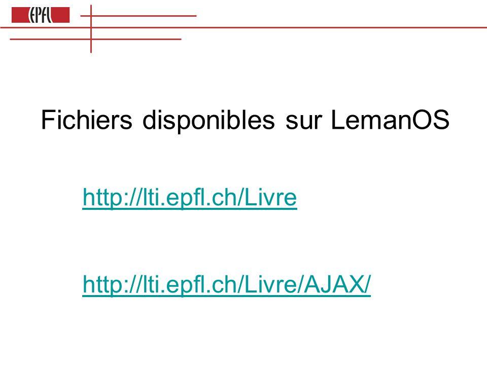 Fichiers disponibles sur LemanOS