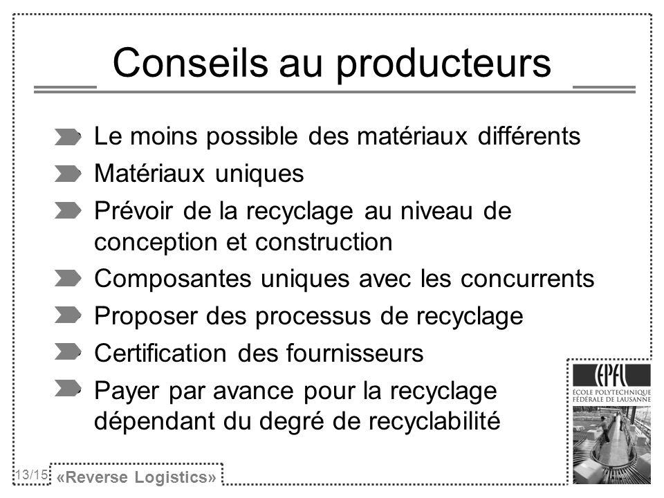 Conseils au producteurs