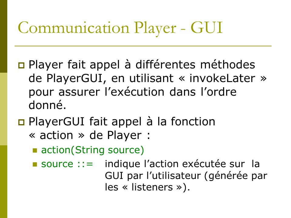Communication Player - GUI